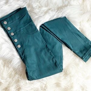 NWOT Favlux Fashion Green High Waisted Jeggings SM
